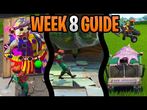 Fortnite Season  Week  Challenges Guide | Fish Trophy & Balloon Game Locations | Battlestar