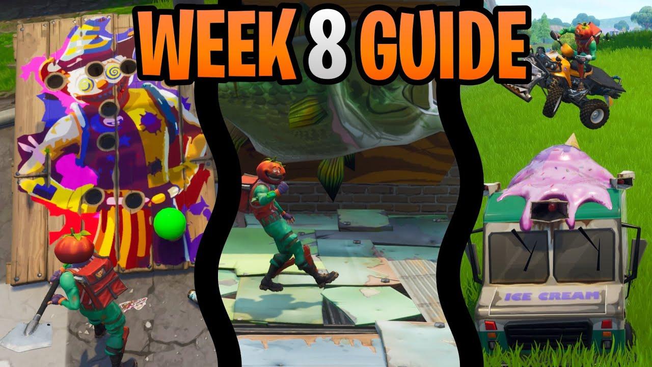Fortnite Season 6 Week 8 Challenges Guide Fish Trophy Balloon