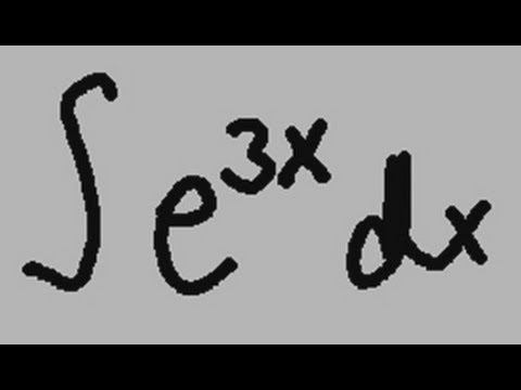 Integral of e to the 3x power