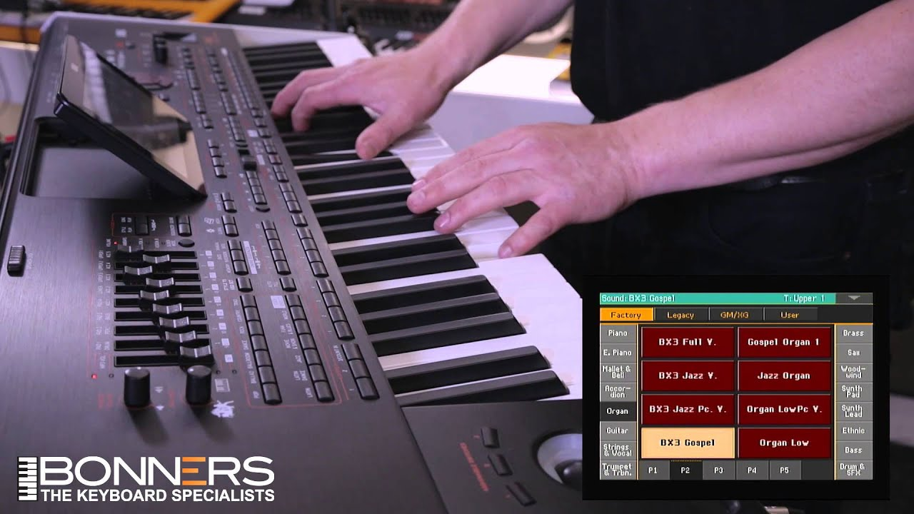 korg pa4x demo by bonners music part 2 organ sounds youtube