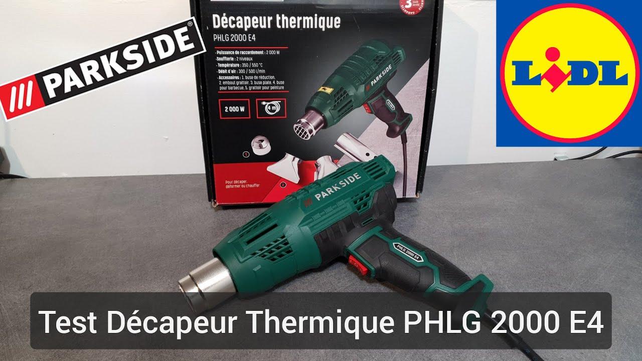 550°C T° 350 PHLG 2000 D3 PARKSIDE 2 niveaux Décapeur Thermique 2000 W