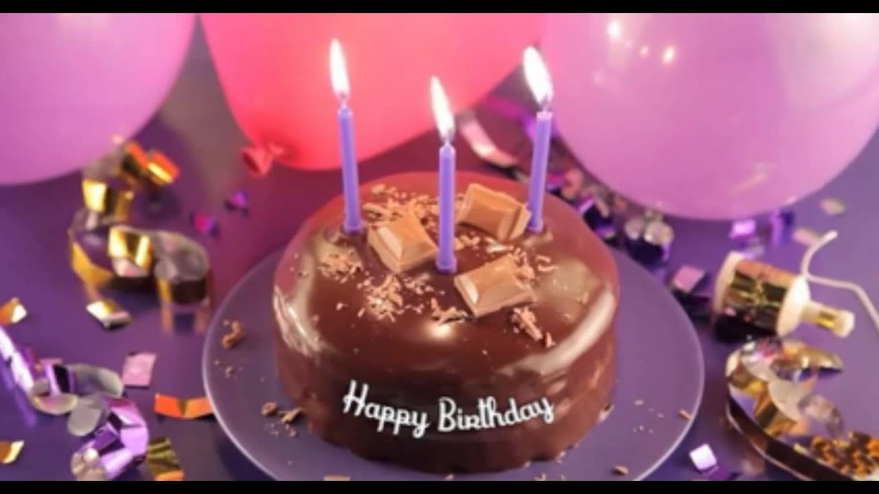 birthday cake animation video - YouTube
