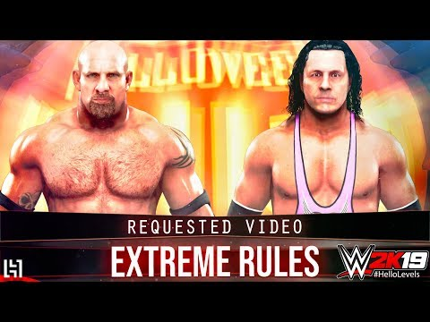 WWE 2K19 Goldberg vs Bret Hart EXTREME RULES Match | WWE 2K19 Gameplay