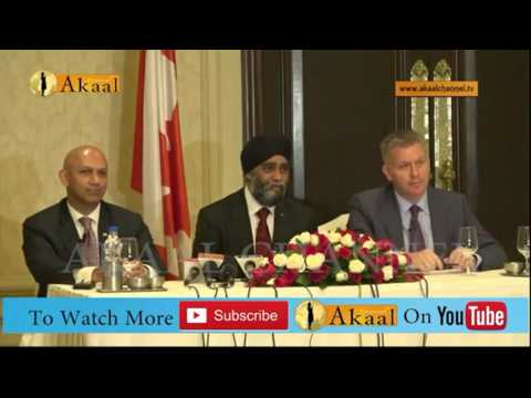 Press conference of Canadian Defense Minister Harjit Singh
