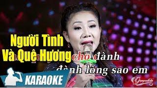 Người Tình Và Quê Hương Karaoke Thúy Hà (Tone Nữ) | Nhạc Vàng Bolero Karaoke