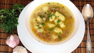Гречневый суп с картофельными клецками Объедение