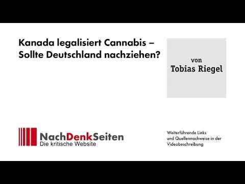 Kanada legalisiert Cannabis – Sollte Deutschland nachziehen?   Tobias Riegel