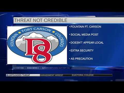 Fort Carson School Threat