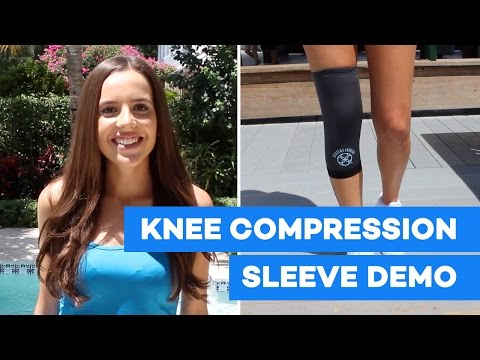 Knee Compression Sleeve Demo –Helps Support, Correct & Align the Knee