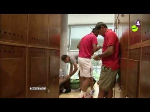 Oooops... Behind the scenes with Rafael Nadal and naked Fabio Fognini