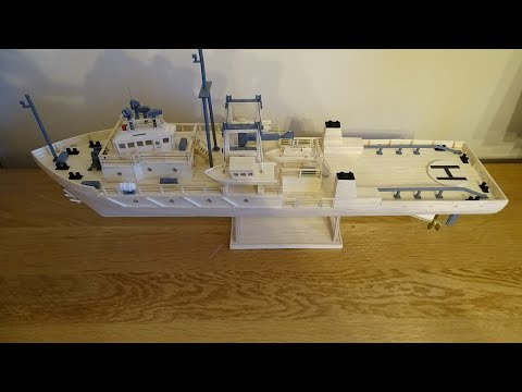Matchstick modelling..Oil rig support ship