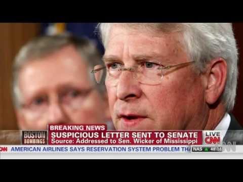 Envelope Tests Positive For Ricin Meant For Senator Roger Wicker