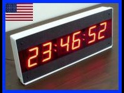 Large Digital Wall Clock Led Wall Clock Ck 1000 Youtube