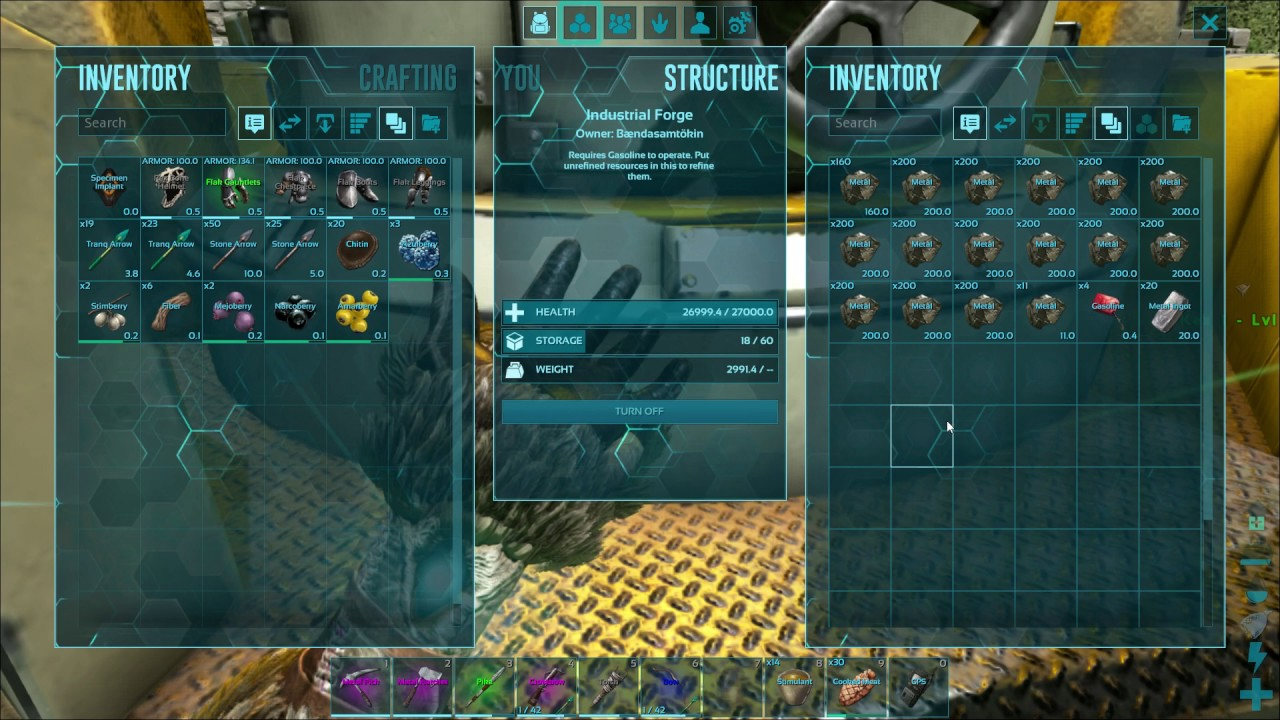 How Does Industrial Forge Work Ark Survival Evolved Youtube