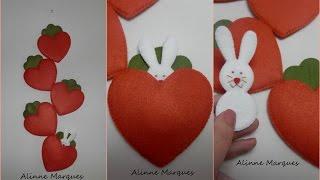Enfeite cenoura coração – Artesanato Passo a passo