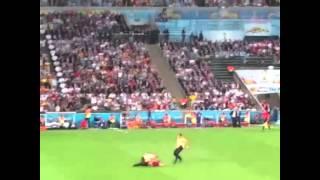 VitalyzdTv Streaking During World Cup 2014 Finals Germany v Argentina LIVE