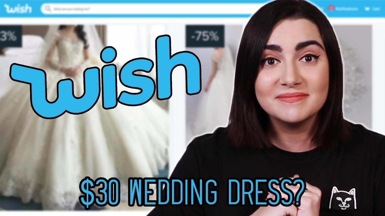 449b267a01 I Tried Wedding Dresses From Wish - YouTube