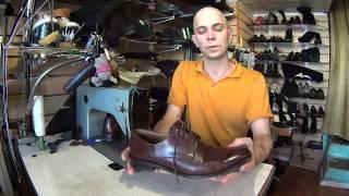 Виды работ при повторном приеме дорогой обуви.