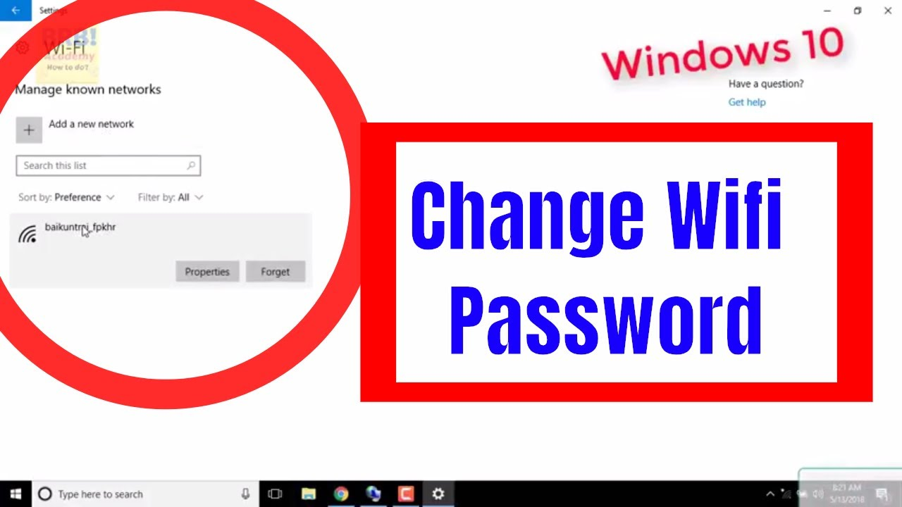 windows 10 clear wifi password