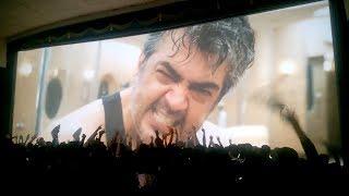 Ajith Massive Fan Following At Tamil Nadu Theater || B&W Arty Filmz