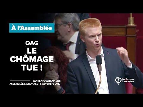 QAG - Le chômage tue ! | Adrien Quatennens