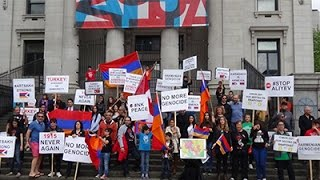 canadian armenian youth ayf downtown vancouver bc protest armeniangenocide 101