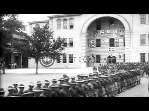 Cadets Of US Army Air Service Or Aviation Section Of U.S. Signal Corps Receive Co...HD Stock Footage