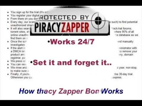 Piracy Zapper - Stop Online Piracy - My Piracy Zapper Review