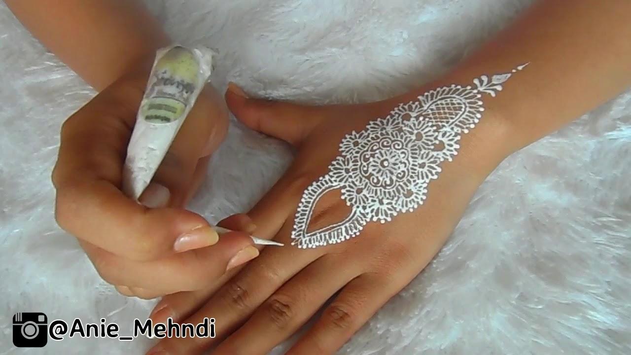 Simple White Henna Design For Wedding Easy Diy Henna 69 Youtube