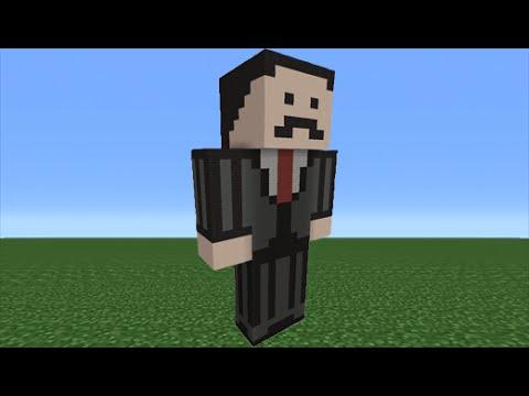 Minecraft Tutorial How To Make A Mumbo Jumbo Statue YouTube