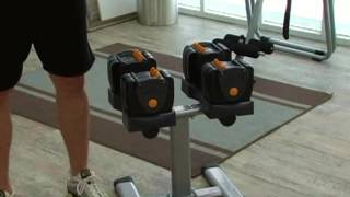 Performance Fitness Systems Tb560 Adjustable Dumbbells With Stand - Product Review Video