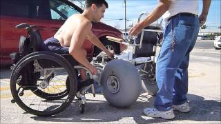 Beach Wheelchair (Wheelchair user) (Paraplegic)