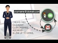 Create And Link Free Custom email Address To gmail   Godaddy
