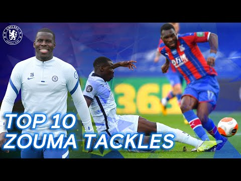 Kurt Zouma's Top 10 Chelsea Tackles | Chelsea Tops