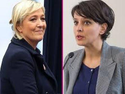 Marine Le Pen MASSACRE ET DETRUIT Najat-Vallaud Belkacem