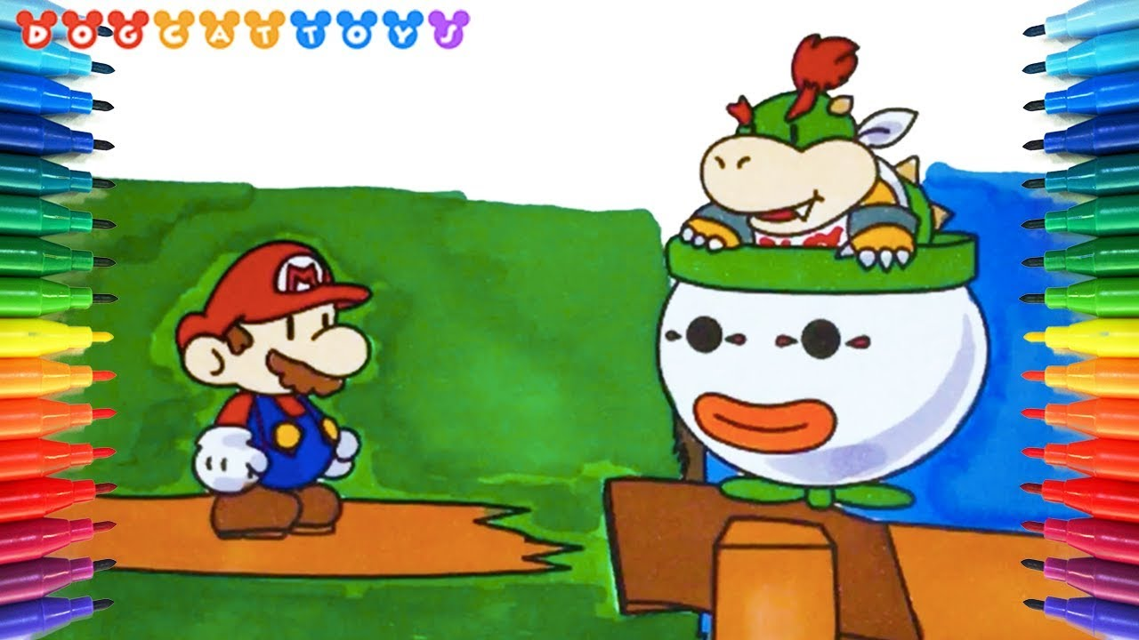 How to Draw Super Mario, Mario & Bowser Jr Coloring #176 | Drawing ...
