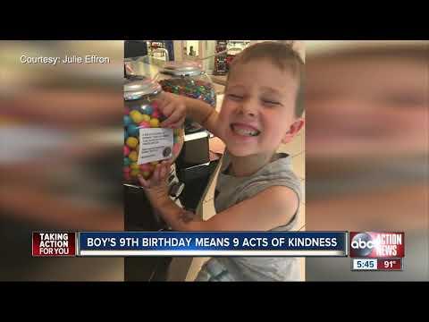 "V Mornings - ""Kindness Kid"" Doing Nine Acts Of Kindness For His Ninth Birthday #GoodNews"