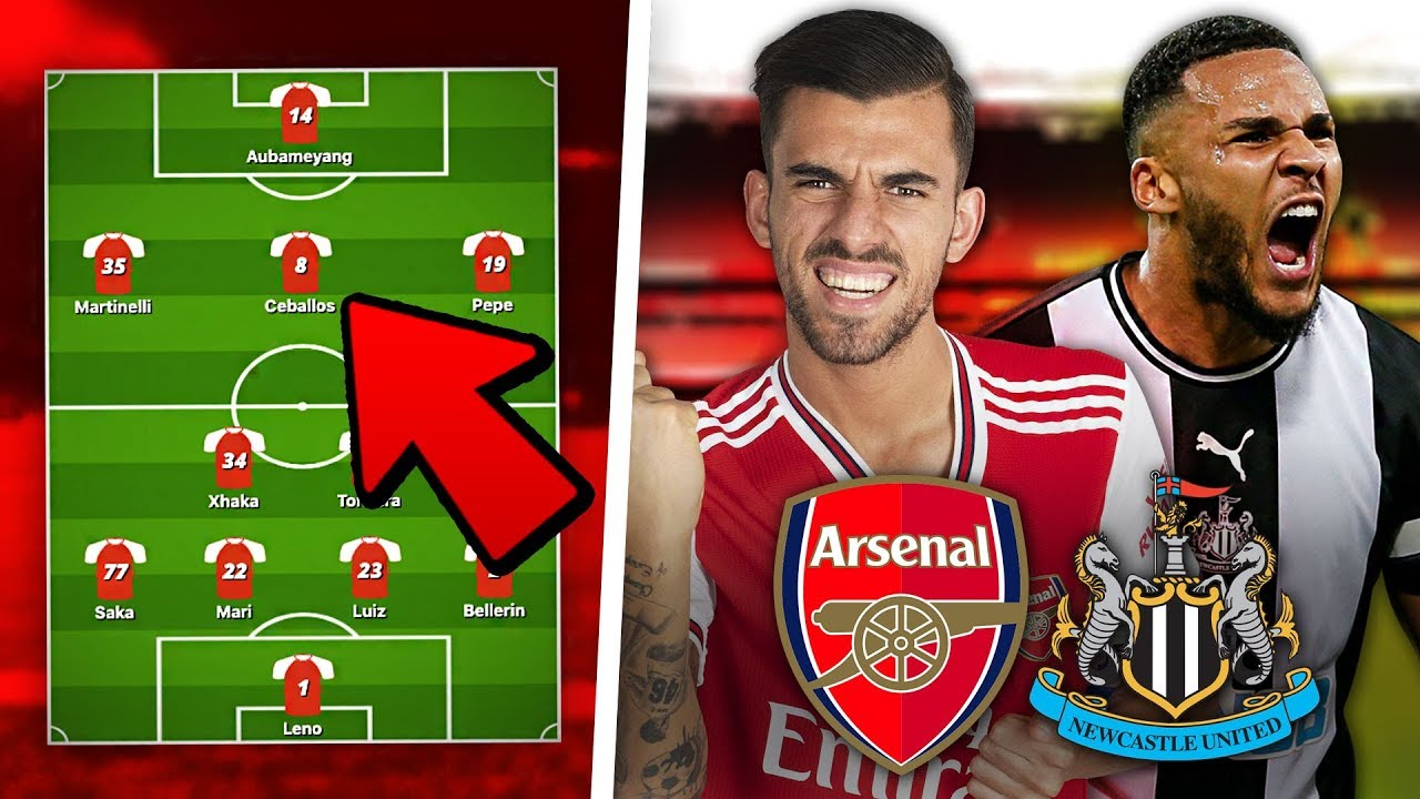 ARSENAL vs NEWCASTLE Predicted Lineup | Preview - YouTube