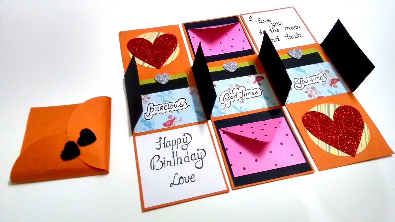 Special Handmade GIFT for BIRTHDAY | Complete tutorial ...