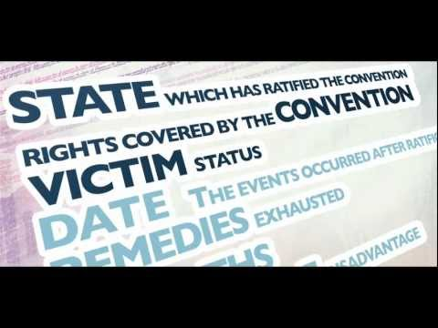 (ENG) ECHR - Video on the admissibility conditions (English Version)
