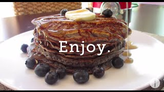 Blender Blueberry Pancakes