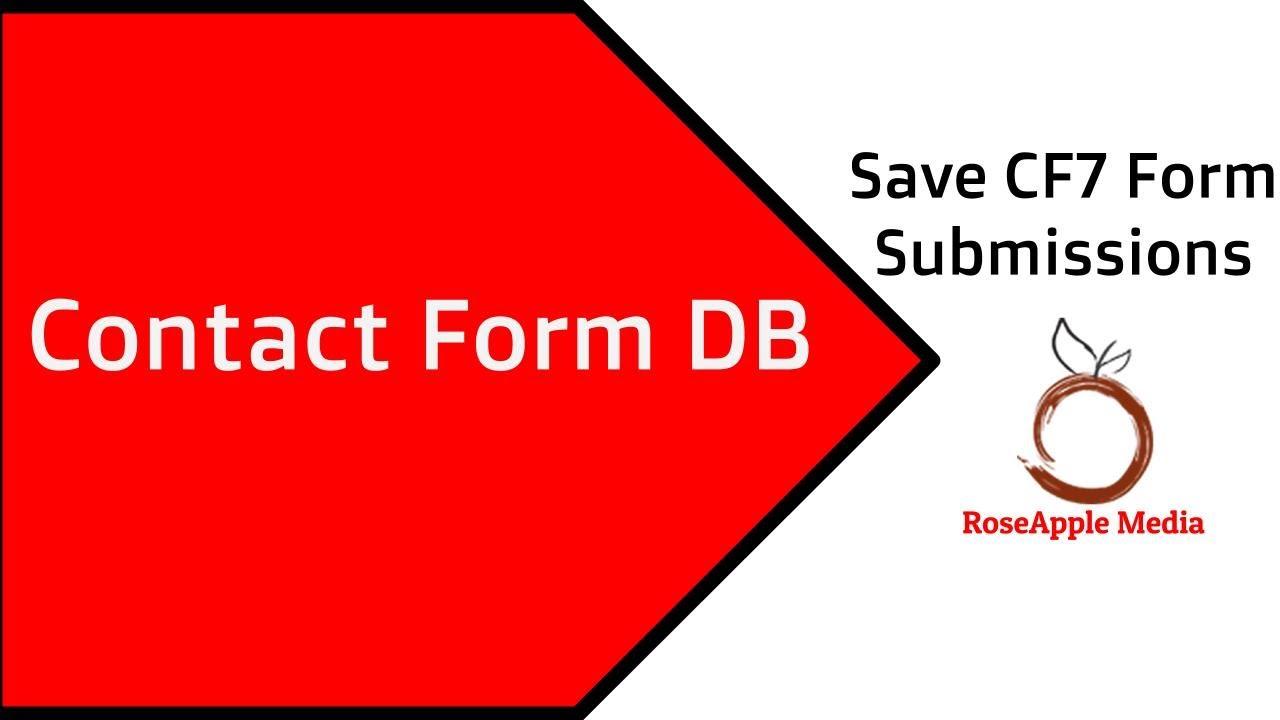 CFDB Plugin | Contact Form to Database Wordpress Plugin