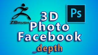 3D photo Facebook with Photoshop and Zbrush
