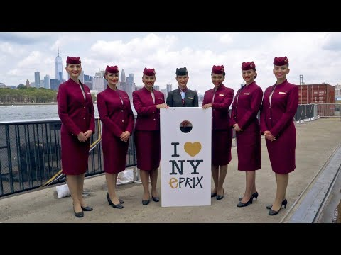 Highlights from Formula E New York City ePrix 2017 with Qatar Airways