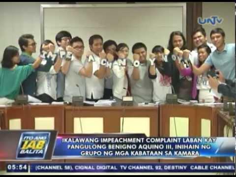 2nd impeachment complaint vs Pres. Aquino, inihain ng grupo ng mga kabataan sa Kamara