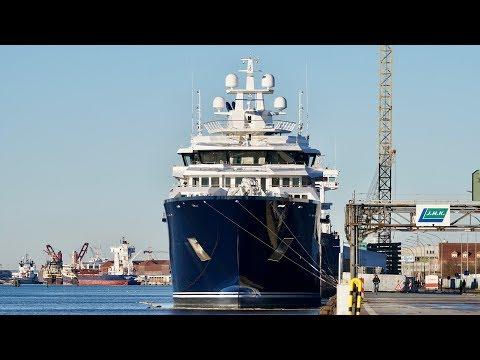 4K | Explorer Yacht U116 finally Uncovered - Kleven shipyard - Stahlbau Nord