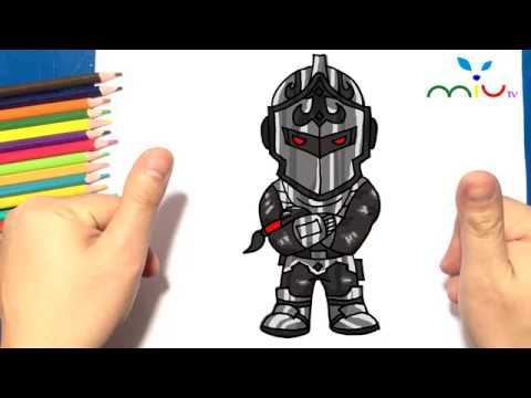 How to draw Black Knight from Fortnite ❤ MiuTV Draw for Kids