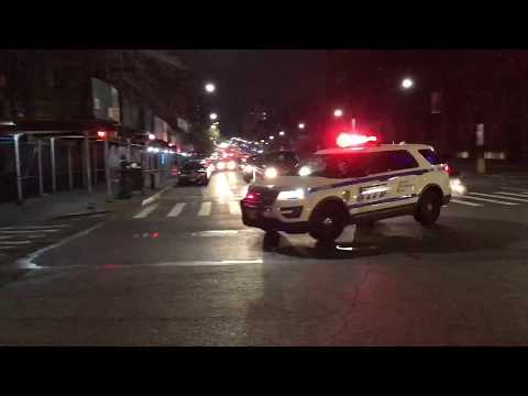 NYPD POLICE INTERCEPTOR UTILITY RESPONDING ON 149TH STREET IN THE MOTT HAVEN AREA OF THE BRONX, NYC.