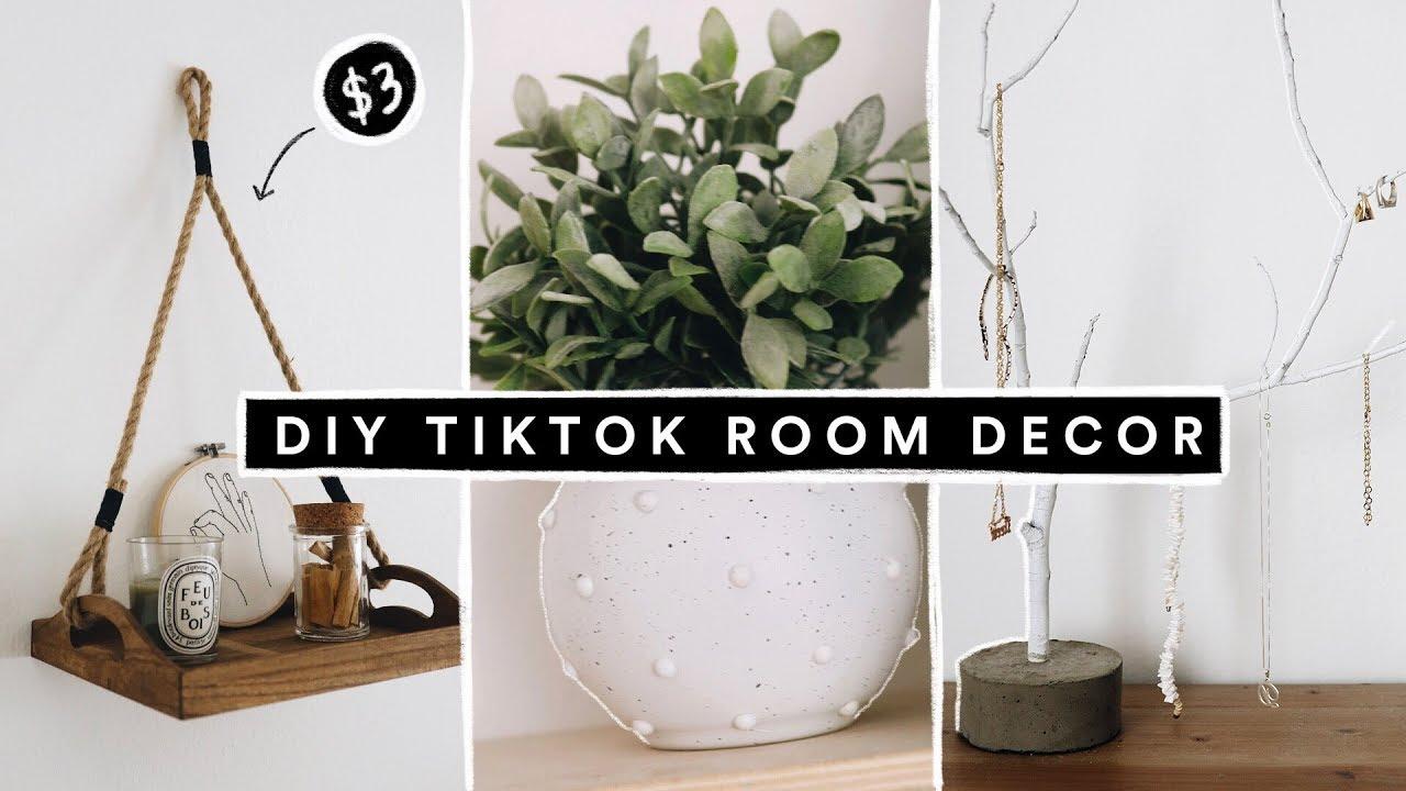 Recreating VIRAL TIK TOK DIY Projects + Room Decor   YouTube   Diy ...