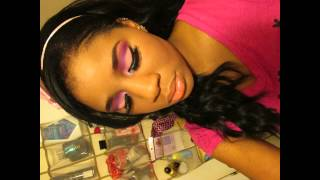 Pink and Purple its a girl baby shower makeup idea ft Bh Cosmetics eyes on the 60's palette series Thumbnail